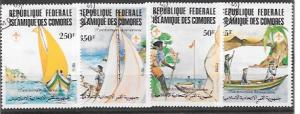 Set of 4 celebrating the 75 anniversary of Scouting