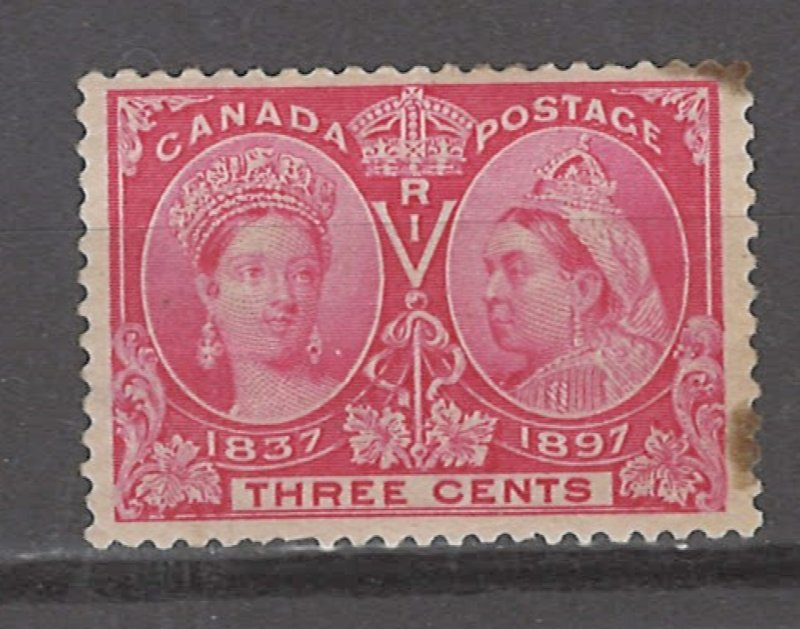 COLLECTION LOT # 3083 CANADA #53 MH STAINED 1897 CV+$30