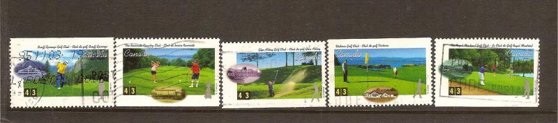 CANADIAN SET ON GOLF USED STAMPS  LOT#72