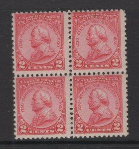 United States 1930 General Von Steuben Block of 4 Stamps Scott 689 MNH