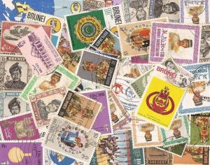Brunei - Collection of 50 Different Stamps Most Postally Used
