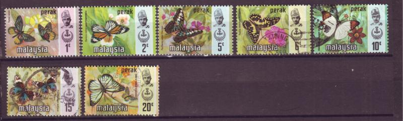 J18021 JLstamp  [low price] 1971 malaya perak set mh/used #146-52 butterflies