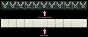 US 3758B American Design Navajo Jewelry 2c PNC11 back number MNH 2011