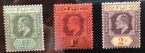 Fiji #59,60,61 MH OG F/VF - Wm 2 verified 1903