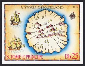 Sao Tome History of Navigation Map of Sao Tome MS SC#540