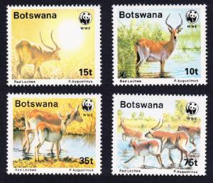 Botswana WWF Red Lechwe 4v SG#648-651 MI#431-434 SC#432-435