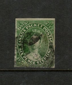 Canada #9 Used Fine - Thin At LR Corner & Somewhat Heavy Cancel