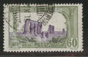 Tunis Tunisia Scott 48 used 1921 stamp vertical crease