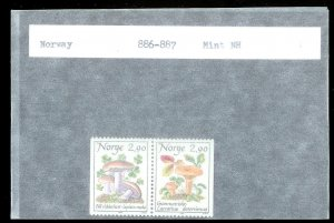 NORWAY Sc#886-887 MINT NEVER HINGED Partial Set