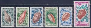 Wallis & Futuna Scott #'s 159 - 164 & C18 MH