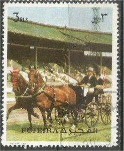 FUJEIRA, 1973, used 3r, Coach, Horse Mi, 1293