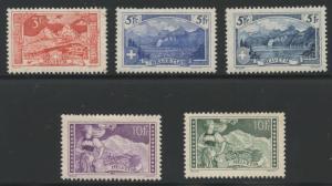 SWITZERLAND  HIGH VALUES  SCOTT#182/85 &  206  MINT LH