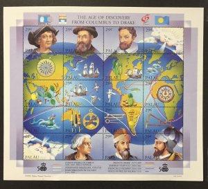 Palau 1992 #302 S/S, Age of Discovery, MNH.