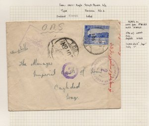 IRAN/PERSIA: 1943 50D on Cover to Baghdad RAF Censor, Cancels: Part Page (40467)