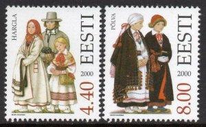 Estonia 2000 #400-1 MNH. Costumes