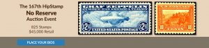 The 167th HipStamp No Reserve Auction Event