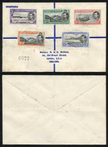 Ascension SG38/42 KGVI Part Set on Cover to England