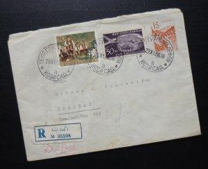 Yugoslavia 1958 Uprated Registered Postal Stationery Novi Sad to Beograd A11