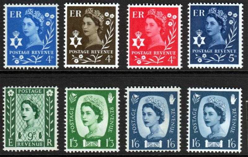 GB QEII Northern Ireland Regional Mix Mint Hinged