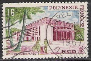French Polynesia #195 Post Office Used