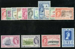 Cayman Islands 1953 QEII set complete superb MNH. SG 148-161a. Sc 135-149.