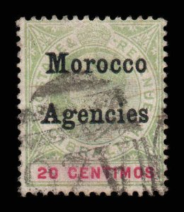 Morocco Agencies 1903 EDVII 20c SG 19 used CV £50