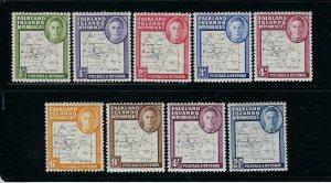 FALKLAND IS. DEPENDENCIES- SCOTT# 1L1-1L8/1L13 1946 (THIN LINES)   MINT XLH/NH