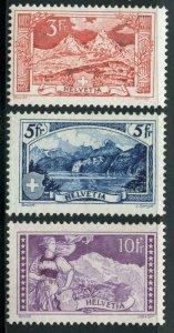 SWITZERLAND  SCOTT #182/84  MINT  HINGED--SCOTT VALUE $332.50