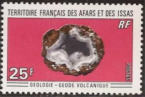 Afars & Issas - 1971 Volcanic Geode Stamp - Scott #361