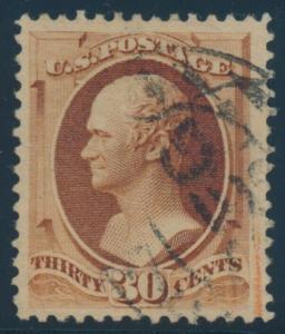 #217 30c 1888 XF+ USED GEM CV $300 BU7518