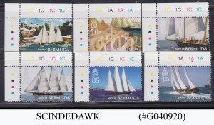BERMUDA - 2007 SAILING SHIPS TRAFFIC LIGHTS 4V MNH