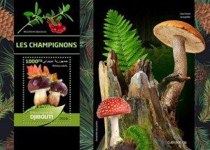 Z08 IMPERF DJB190610b Djibouti 2019 Mushrooms MNH ** Postfrisch