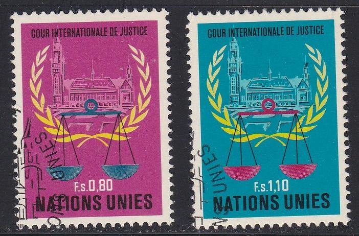 U.N. - Geneva # 87-88, Court of Justice, Used Set