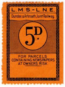 (I.B) Dundee & Arbroath Joint Railway : Newspaper Parcel 5d (LMS-LNER)