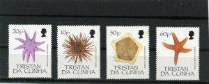 TRISTAN DA CUNHA 1990 STARFISH SET OF 4 STAMPS MNH