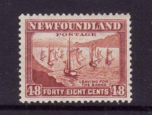 Newfoundland-Sc#266-unused og hinged 48c Fishing Fleet-1941-44-id222-