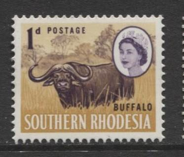 Southern Rhodesia- Scott 96 - QEII Definitives -1964 - MNH- Single 1d Stamp