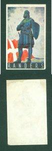 Denmark.  Poster Stamp 1950s. Local. Town: Randers. Viking  Flag Dannebrog