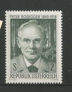 AUSTRIA  814  MNH, PETER ROSSEGER, POET AND WRITER