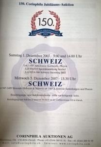 Auction catalogue SCHWEIZ RAYON SITZENDE HELVETIA UNGEZAHNT 1854-62 Strubel