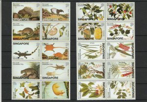 William Farquhars Nat. History Drawings Singapore Mint Never Hinged Stamps 32692