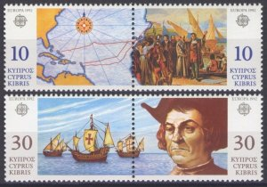 1992 Cyprus 790-793Paar Europa Cept / Ships with sails 4,50 €
