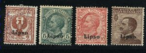 Italy-Lisso #1-3,7   Mint & used 1912-22 PD