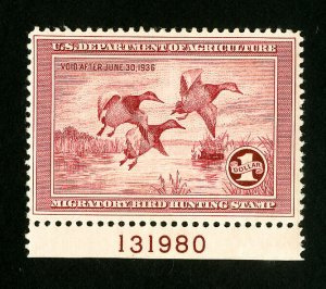US Stamps # RW2 XF OG NH Scarce PL# Single Catalog Value $725.00
