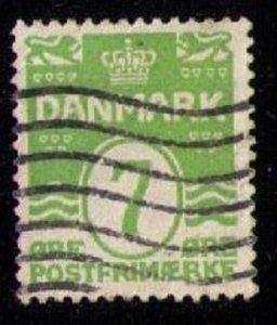DENMARK Sc 91 Used Apple Green F-VF