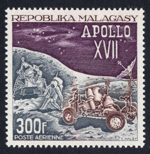 Malagasy Republic   #C111  MNH  1973  Apollo 17 moon mission