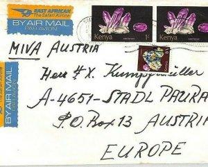 KENYA Air Mail Cover Nairobi *Loitokitok* MIVA MISSIONARY Austria CA241