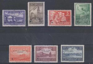 URUGUAY 1930 Sc 394, 397-399, 401-402 & 404 PERF PROOFS + SPECIMEN UNUSED VF