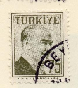 Turkey 1957 Early Issue Fine Used 75k. 093064