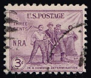 US #732 National Recovery Act; Used (0.25)
